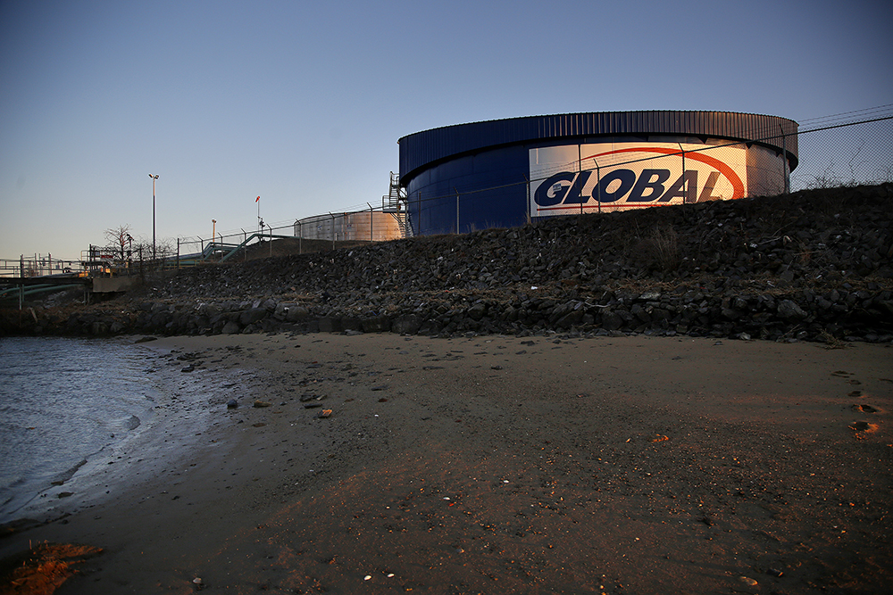A petroleum tank farm in South Portland. Credit: Derek Davis/Portland Press Herald via Getty Images