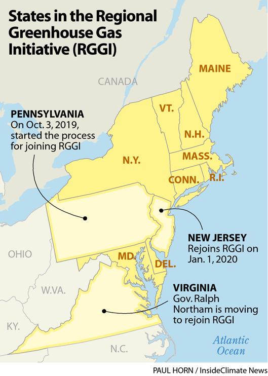 Map: RGGI States