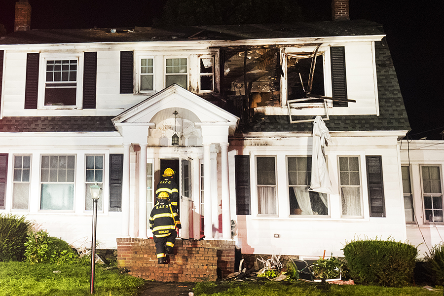 The catastrophic failure of a natural gas pipeline in 2018 in Lawrence, Andover and North Andover caused dozens of fires and explosions and left homeowners searching for new ways power sources for heat and cooking. Credit: Adam Glanzman/Getty Images