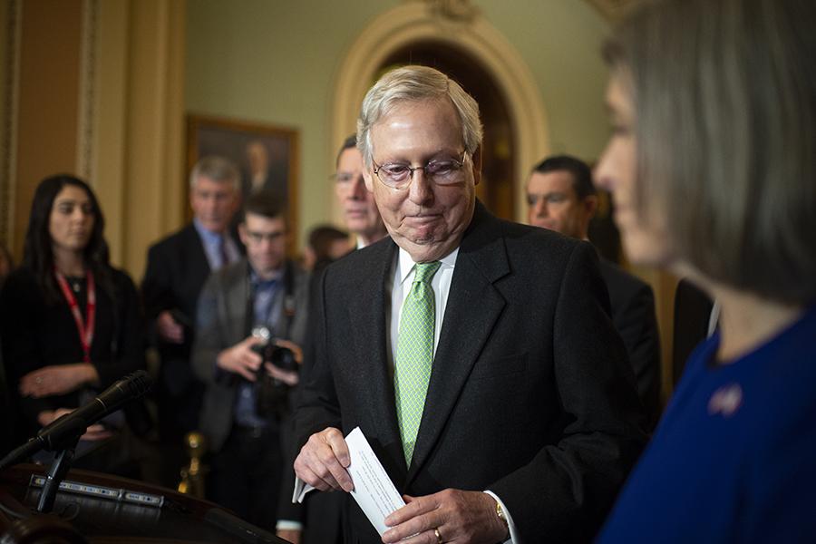 Senate Majority Leader Mitch McConnell (R-Ky.). Credit: Caroline Brehman/CQ-Roll Call via Getty Images