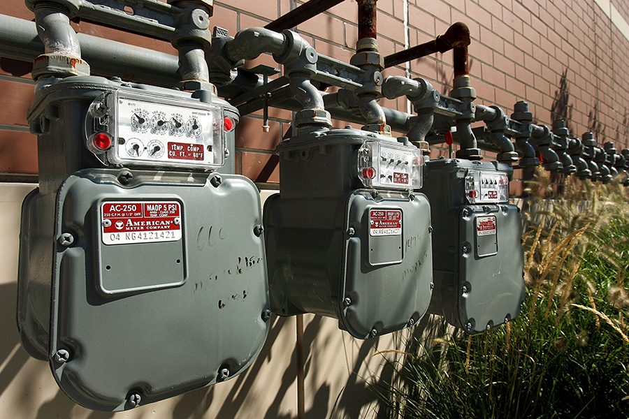 Natural gas meters. Credit: Tim Boyle/Getty Images