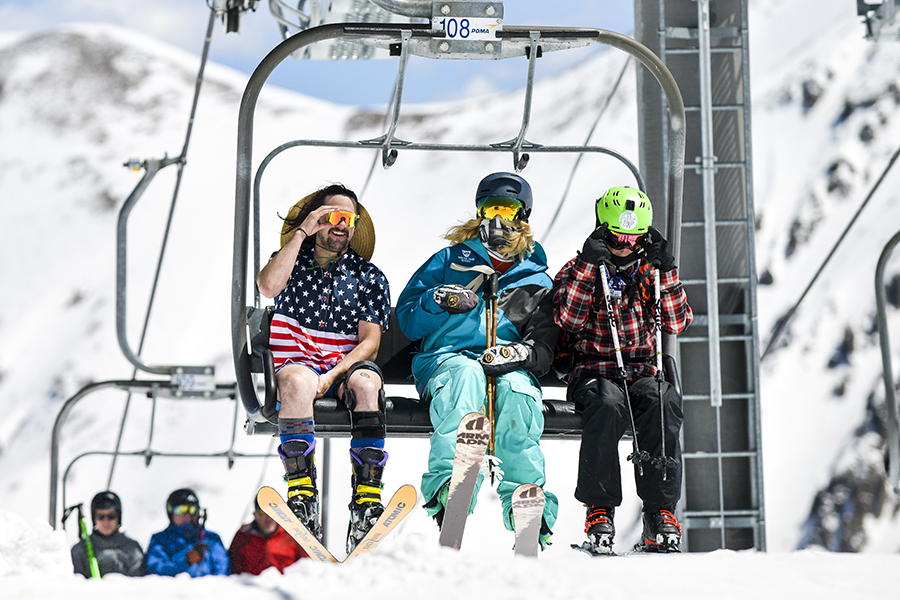 The ski industry is working to turn winter sports enthusiasts into climate supporters. Credit: Michael Ciaglo/Getty Images