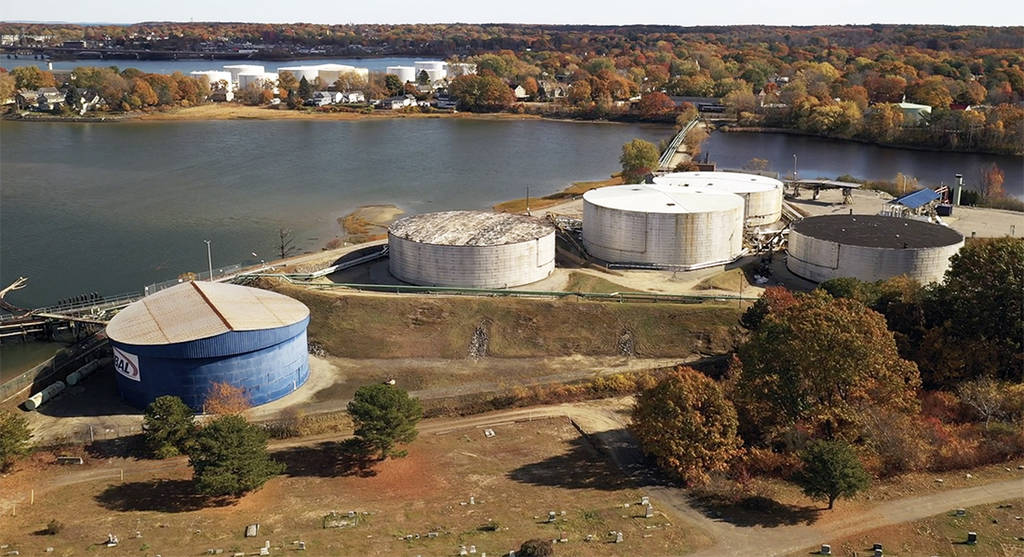 A Global tank farm in South Portland, Maine. Credit: Jeremy Weir/Rodeonexis Photo