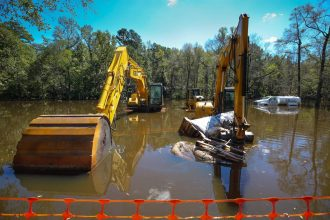 Hurricane Florence flooded out a contaminated Superfund site Cheraw, South Carolina. Credit: The State.