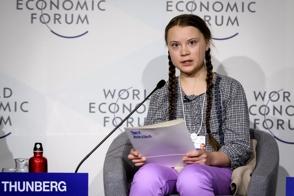 Greta Thunberg in Davos. Credit: Fabrice Coffrini/AFP via Getty Images
