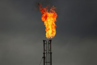 Methane flare. Credit: Spencer Platt/Getty Images