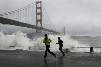 San Francisco faces increasing coastal risks as sea level rises. Credit: Justin Sullivan/Getty Images