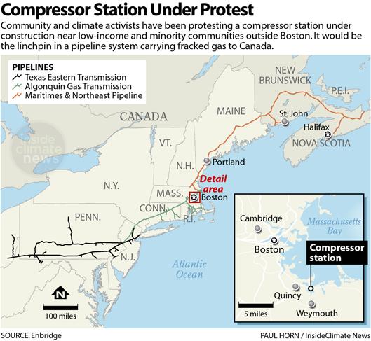 Map: Compressor Station Under Protest