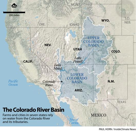 Map: The Colorado River Basin