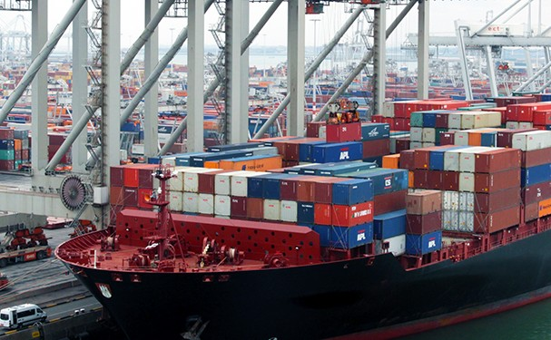 Shipping containers on a ship.  Credit: International Maritime Organization