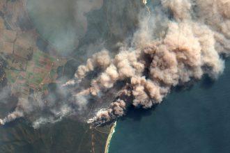 Australian wildfire aerial image. Credit: Orbital Horizon/Copernicus Sentinel Data/Gallo Images via Getty Images