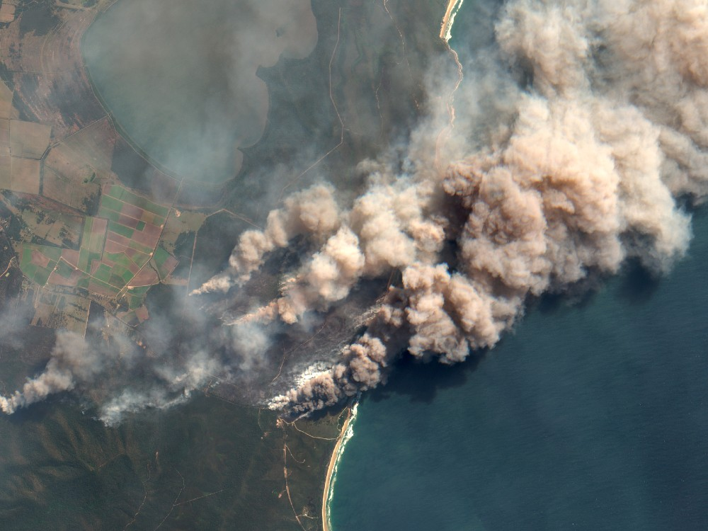 Australian wildfire aerial image. Credit: Orbital Horizon/Copernicus Sentinel Data/Gallo Images via Getty Images