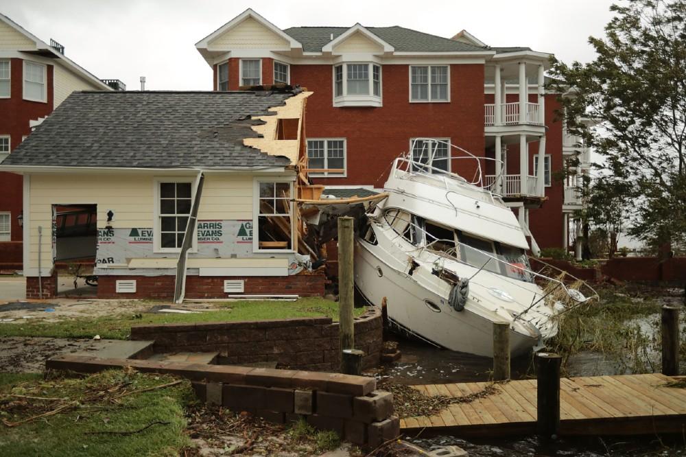 Hurricane Florence destruction in New Bern, North Carolina. Credit: Chip Somodevilla/Getty Images