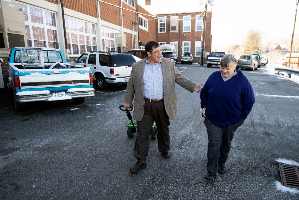 Campbell County Mayor E. L. Morton, left, says his primary concern surrounding coal mining is jobs. Credit: Saul Young/Knoxville News Sentinel