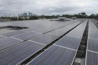 Solar panels in Orlando, Florida. Credit: Amy Green, WFME
