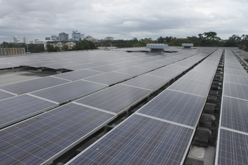 Solar panels in Orlando, Florida. Credit: Amy Green, WFME