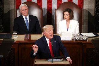 President Trump at the 2020 State of the Union address. Credit: Mark Wilson/Getty Images