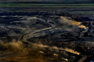 The Syncrude oil sands mine is one of the oldest operating in Alberta. But a declining oil market makes newer projects like Frontier, canceled Sunday, hard to build. Credit: Michael S. Williamson/The Washington Post via Getty Images