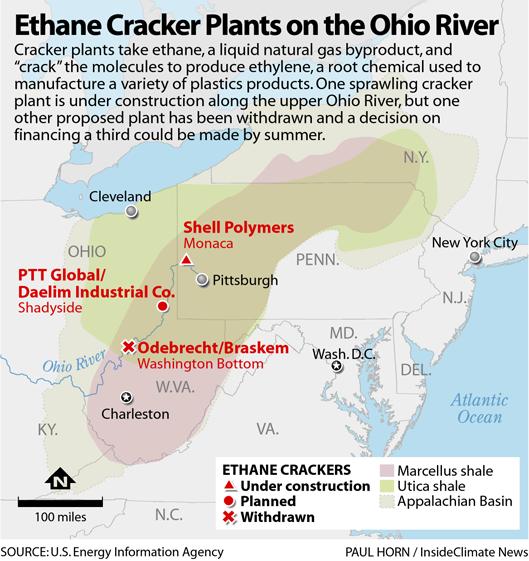 Ethane Cracker Plants on the Ohio River