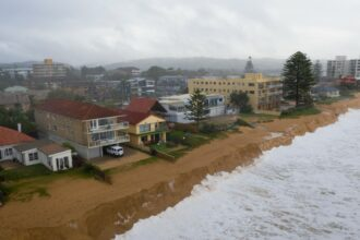 Sandy beaches, like this one in Sydney, Australia, are vital for protecting coasts from storms. But, a substantial portion of the world's sandy beaches are already eroding, according to a new study. Credit: Brook Mitchell/Getty Images