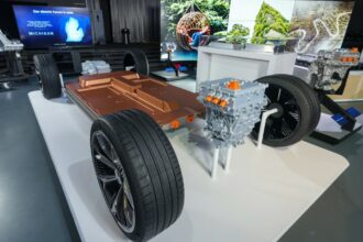 General Motors reveals its modular platform and battery system, Ultium, on March 4, 2020 at the Design Dome on the GM Tech Center campus in Warren, Michigan. Credit: Steve Fecht for General Motors
