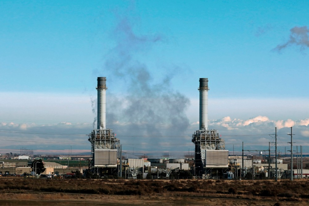 Natural gas fueled electricity generating power plant near Hermiston, Oregon. Credit: Education Images/Universal Images Group via Getty Images