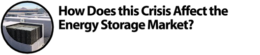 How Does this Crisis Affect the Energy Storage Market?