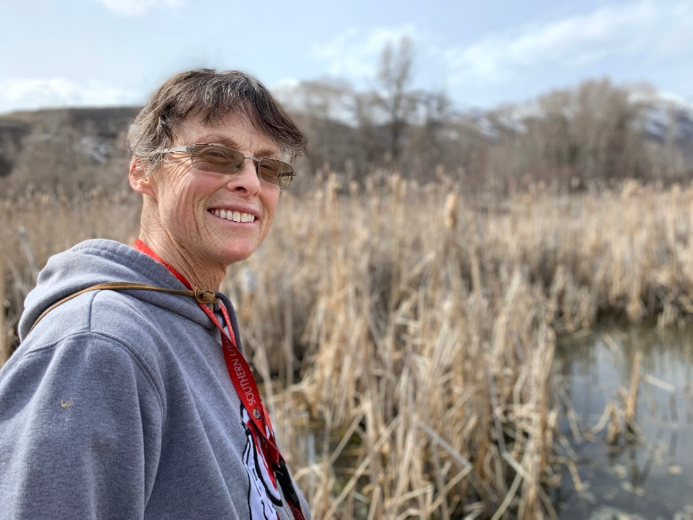 Paula Trater has been tracking Columbia spotted frogs for about two decades in the alpine wetlands east of Salt Lake City.