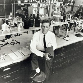 Cal-Tech scientist Arie Haagen-Smit's findings about the connection between smog and burning oil were attacked by industry leaders aiming to discredit him. Credit: California Institute of Technology Archives