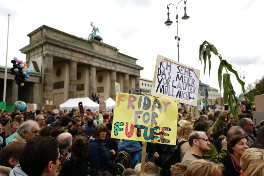 Participants in the Fridays For Future movement protest during a nationwide climate change action day in front of the Brandenburg Gate on September 20, 2019 in Berlin, Germany. Credit: Maja Hitij/Getty Images