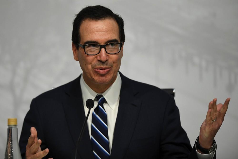 U.S. Secretary of the Treasury Steven Mnuchin. Credit: Eitan Abramovich/AFP via Getty Images