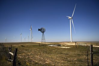 Xcel Energy's Rush Creek Wind Farm mixes renewable energy and agriculture. Joe Amon/The Denver Post via Getty