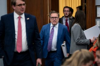 Andrew Wheeler, Administrator of the U.S. Environmental Protection Agency, arrives for a House Appropriations Committee hearing in the Rayburn House Office Building on March 4, 2020.