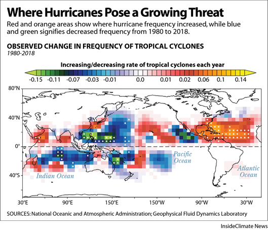 Where Hurricanes Pose a Growing Threat