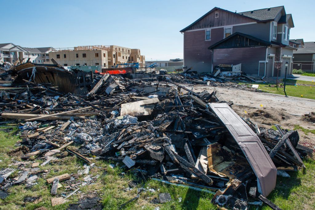 A home in Firestone, Colorado was blown up by a gas leak from an abandoned gas pipeline, killing two people in April 2017. Credit: Ted Wood
