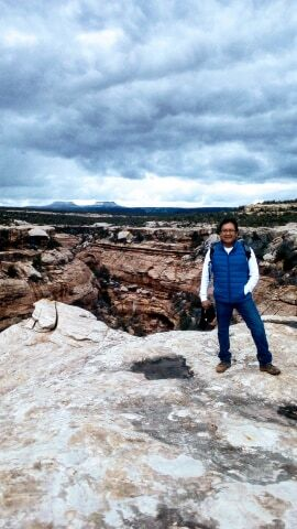 Alfred Lomahquah, a Hopi, was among the leaders of five tribes who helped persuade the Obama administration to create the Bears Ears National Monument in 2016. Courtesy: Alfred Lomahquahu