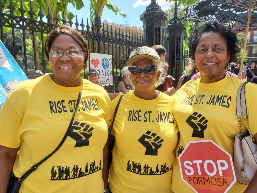 Sharon Lavigne (right) started a community group called RISE St. James to resist a $9.4 billion petrochemical complex a few miles from Lavigne's house. Courtesy of Sharon Lavigne