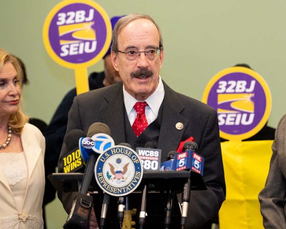 Rep. Eliot Engel (D-NY) has served 16 terms for New York's 16th congressional district. Credit: Michael Brochstein/SOPA Images/LightRocket via Getty Images