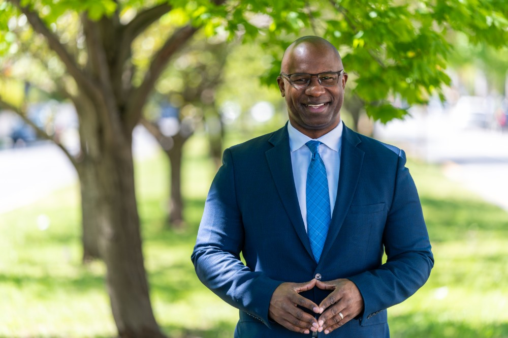 Jamaal Bowman, a former middle school principal, is challenging incumbent Rep. Eliot Engel to represent New York's 16th congressional district. Credit: Jamaal Bowman for U.S. Congress
