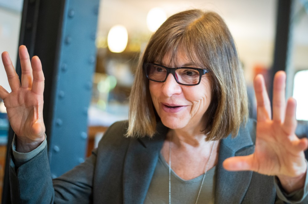 Rebecca Harms of Germany served in the European Parliament from 2004 to 2019, a member of the European Green Party and its German affiliate, Alliance 90/The Greens. Here she is pictured in 2019. Credit: Philipp Schulze/picture alliance via Getty Images