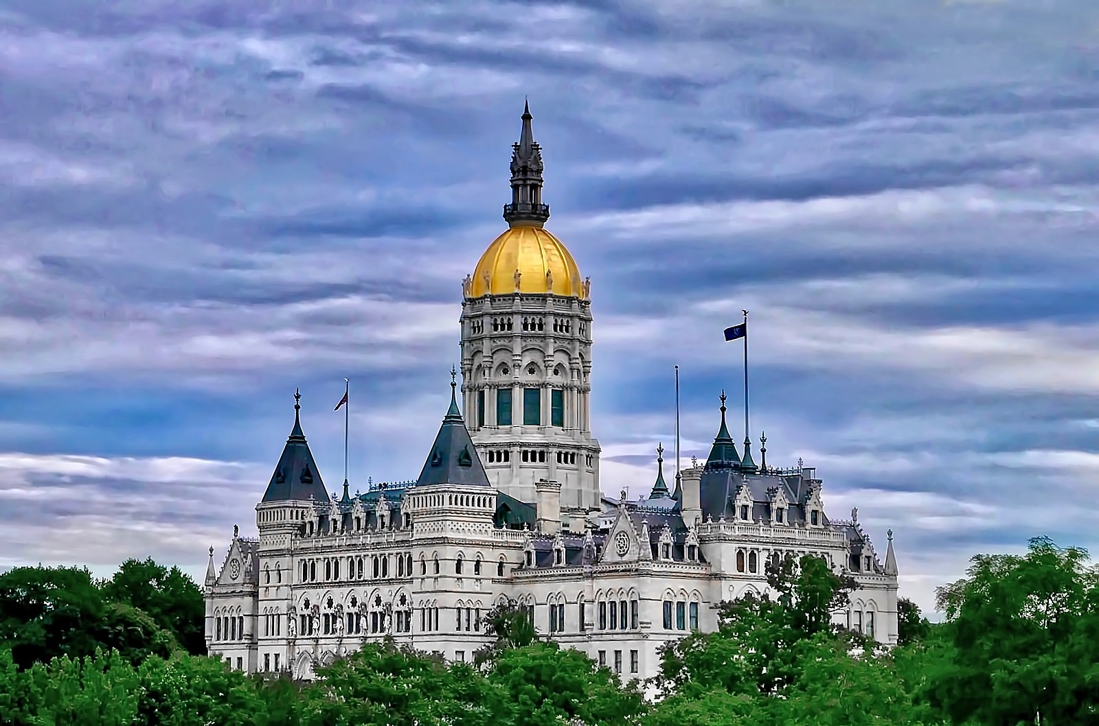 The Connecticut State Capitol building is seen in 2018 in Hartford. Credit: EGryk