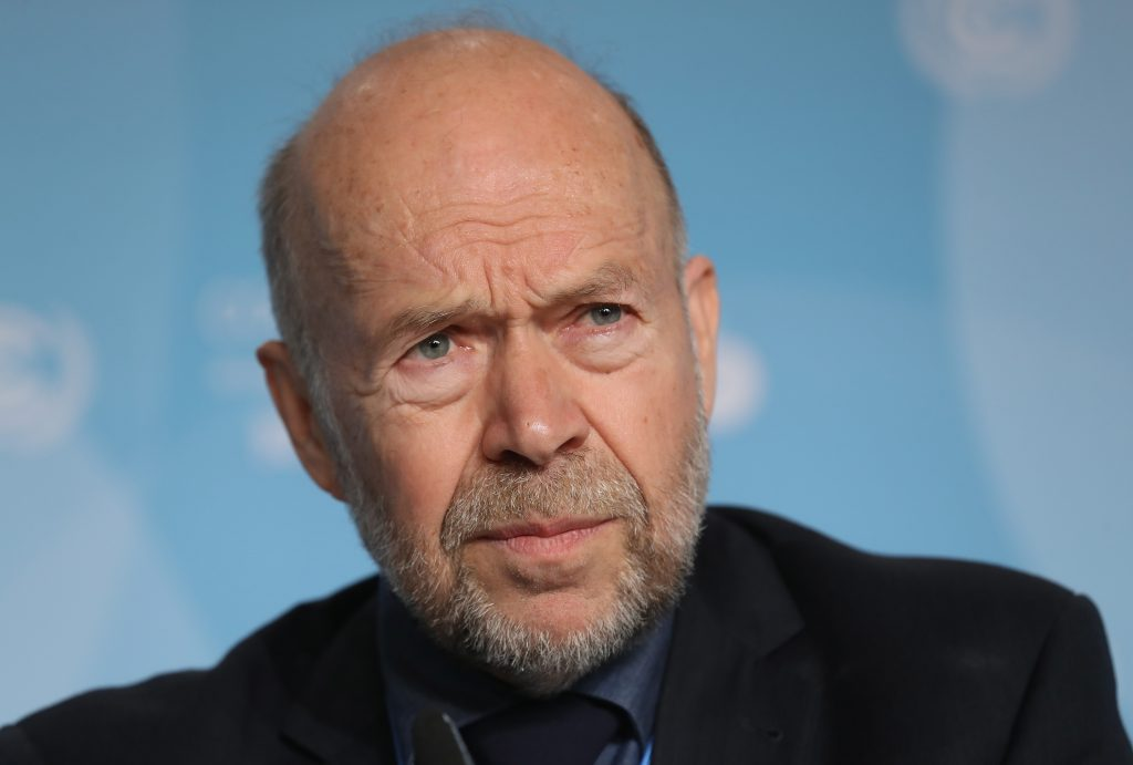 Climate expert and activist James Hansen attends a press conference at the COP 23 United Nations Climate Change Conference on Nov. 6, 2017 in Bonn, Germany. Credit: Sean Gallup/Getty Images