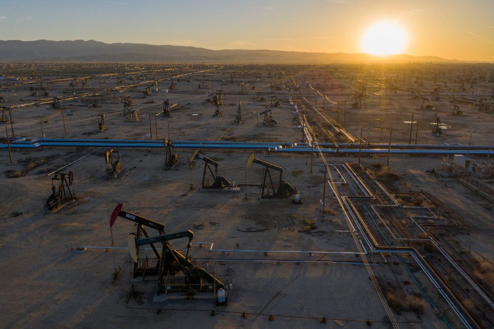 The global oil and gas industry is undergoing a fundamental transformation and is finally being forced to reckon with a future of dwindling demand for its products, some analysts say. Credit: David McNew/Getty Images