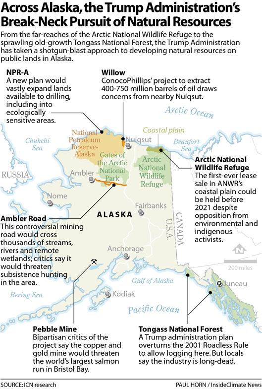 Across Alaska, the Trump Administration's Break-Neck Pursuit of Natural Resources