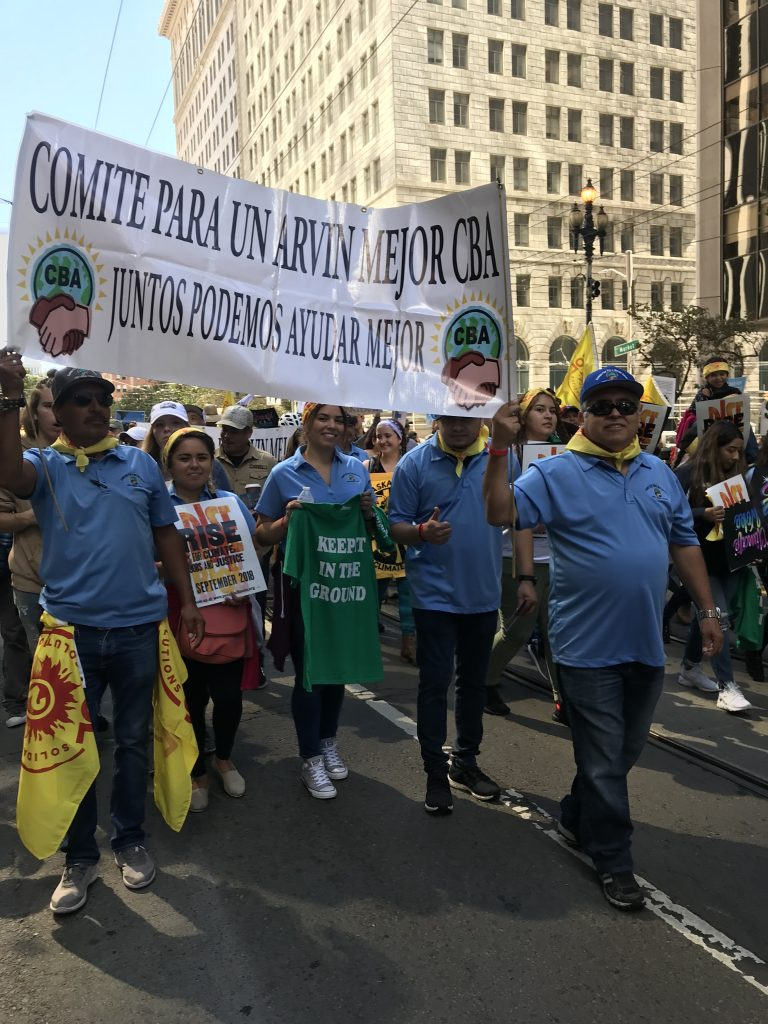 In September 2018, several members of the Committee for a Better Arvin marched in the San Francisco Rise for Climate March. Photo Courtesy of Estela Escoto