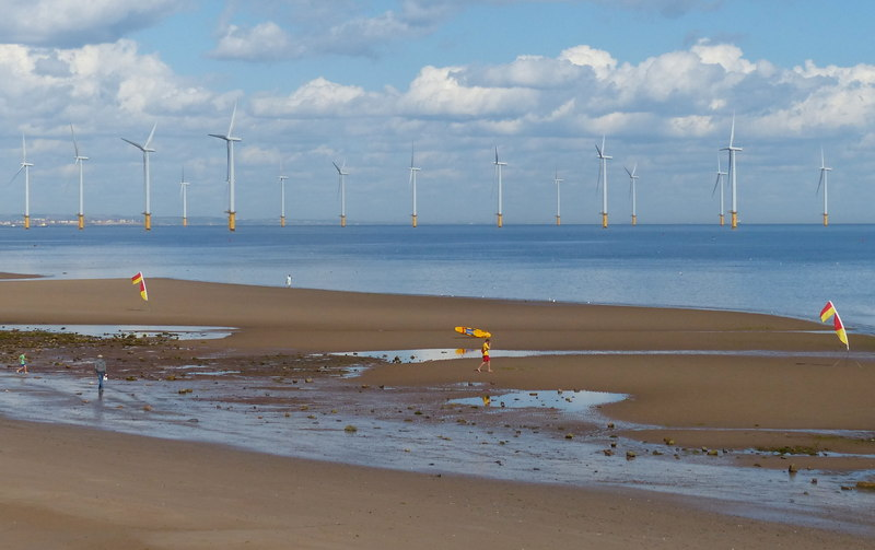 Teesside Wind Farm in the United Kingdom was constructed between February 2011 and June 2013, and officially opened in April 2014. Credit: Mat Fascione