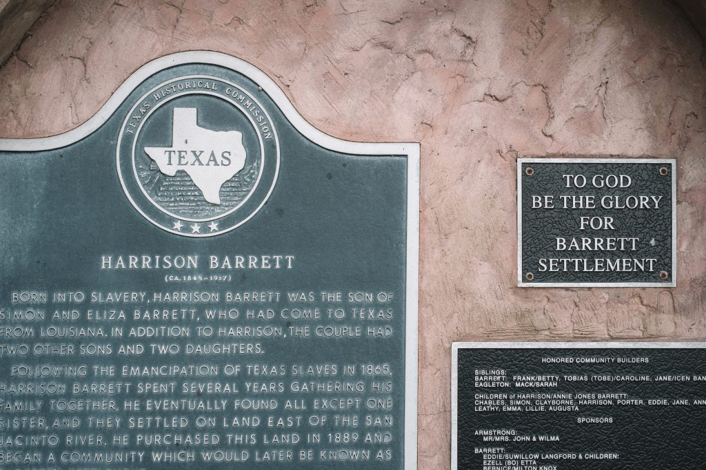 Harrison Barrett, Fred's great-grandfather, founded the town of Barrett, Texas in 1889. Credit: Spike Johnson