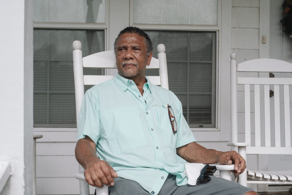 Fred Barrett, 67, visits his family's original homestead. Credit: Spike Johnson