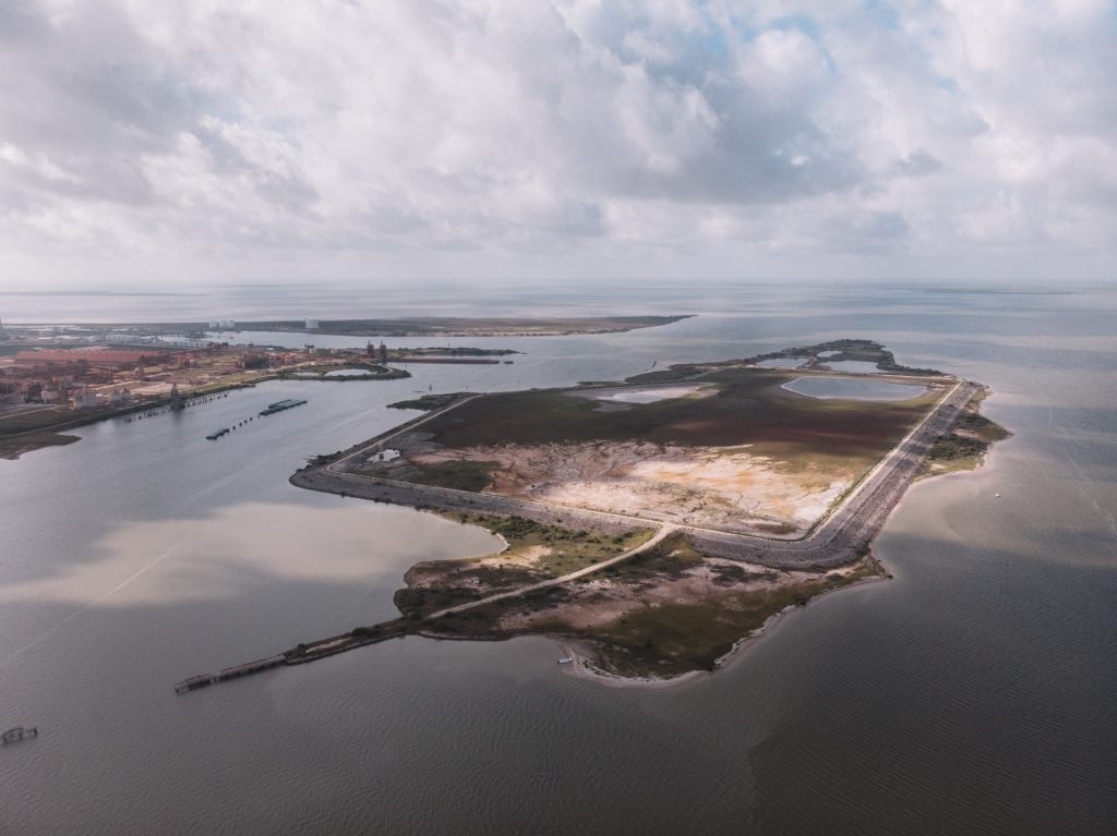 For years, Alcoa dumped both mercury and mercury-tainted dredge materials on Dredge Island in Lavaca Bay. Credit: Spike Johnson