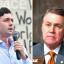 Democrat Jon Ossoff (left) is running against Sen. David Perdue (R-Ga.) to represent Georgia in the Senate. Credit: Paras Griffin/Getty Images; Bill Clark/CQ-Roll Call, Inc via Getty Images